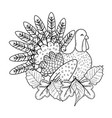 animal turkey cartoon vector image