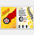 automotive tire brochure vector image vector image