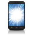 awesome background star burst inside smartphone vector image vector image