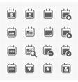 Black Calendar Icons vector image vector image