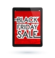 Black Friday tablet vector image
