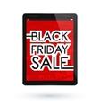 Black Friday tablet vector image vector image