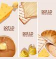 bread fresh bakery background design vector image