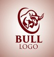 bull logo 5 vector image vector image