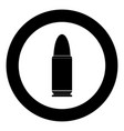 bullets simple icon black color in circle vector image vector image