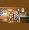 celebrating christmas with family concept vector image vector image