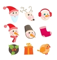 Cheerful holiday icons vector image