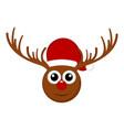 christmas cute reindeer avatar vector image vector image