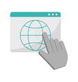 click cursor with website symbol vector image vector image