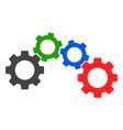 cogwheel mechanism icon vector image