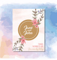 colorful invitation greetings card with flowers vector image vector image