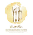 craft beer object hand drawn icon sketch vector image