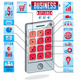 creative infographics cell phone smatphone vector image