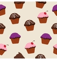 cupcake baking sweet dessert delicious holiday vector image