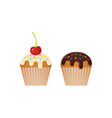 cupcake muffin icons vector image