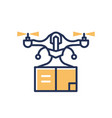 delivery drone - modern line design single vector image vector image