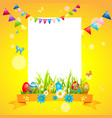 eggs holiday easter card vector image