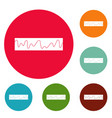 equalizer sonic icons circle set vector image vector image