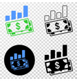 financial charts eps icon with contour vector image vector image
