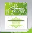 gift card design template with floral decoration vector image vector image