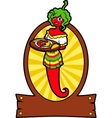 Girl Hot Pepper vector image vector image