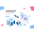 global data center isometric banner vector image