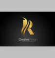 gold metal r letter design brush paint stroke on vector image vector image