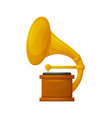gramophone with vinyl recorder gold award icon vector image vector image