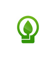 green energy electricity icon vector image vector image