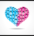 Group of male and female icons make a heart vector image vector image