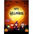 Halloween children at sunset vector image vector image