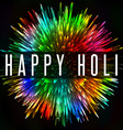 Happy Holi Indian spring festival colorful splash vector image