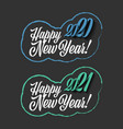 happy new year 2020-2021 sign on the black vector image vector image