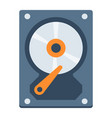 hard disk flat icon hardware and hdd vector image