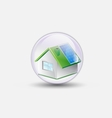house renewable bubble water clear vector image vector image