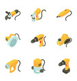 instrument icons set cartoon style vector image vector image