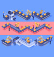 isometric industrial factory automated line vector image