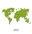 isometric map world detailed vector image