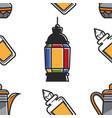 lantern perfumes and teapot saudi arabian symbols vector image