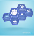 lilac hexagons business infographics vector image vector image