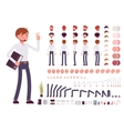 Male clerk character creation set vector image vector image