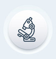 microscope icon in line style vector image