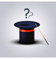 Mystery Magic Hat With Wand Question vector image vector image