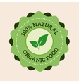 Natural eco organic product label badge vector image vector image