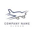 plane logo vector image vector image