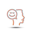 positive thinking line icon communication sign vector image