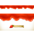 Red sweet drops seamless vector image vector image