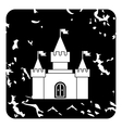 Royal castle icon grunge style vector image