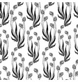 seamless background of decorative clover vector image vector image