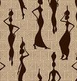 Seamless pattern of African women vector image vector image